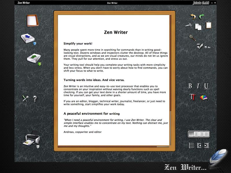 jalada Zen Writer full screenshot
