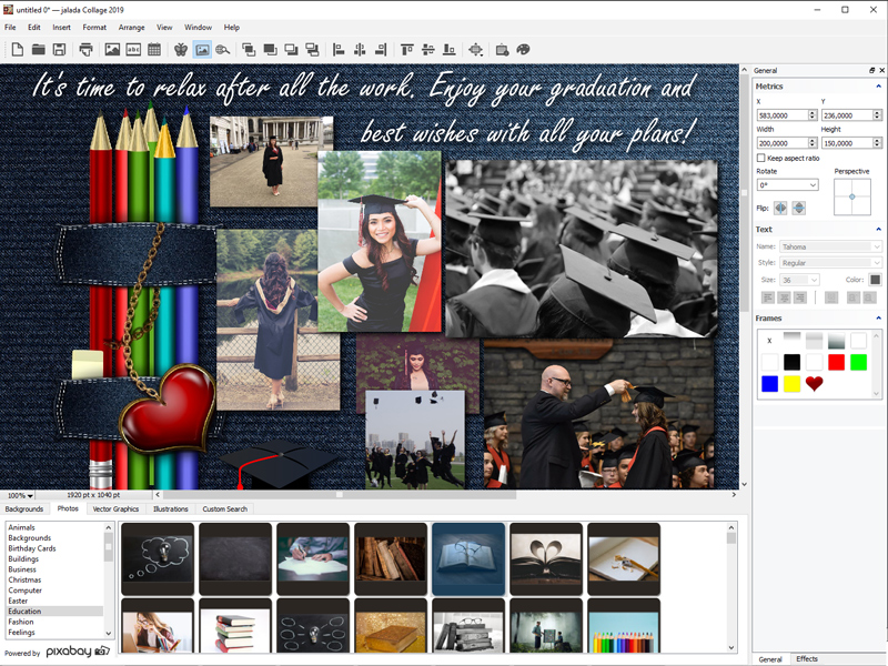 jalada Collage for Windows full screenshot